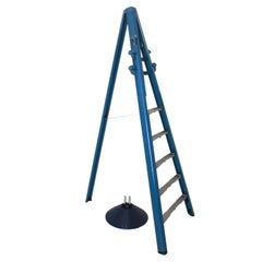 Modernist Blue Dilemma Vintage Coat Rack and Ladder by Giancarlo Piretti, 1984