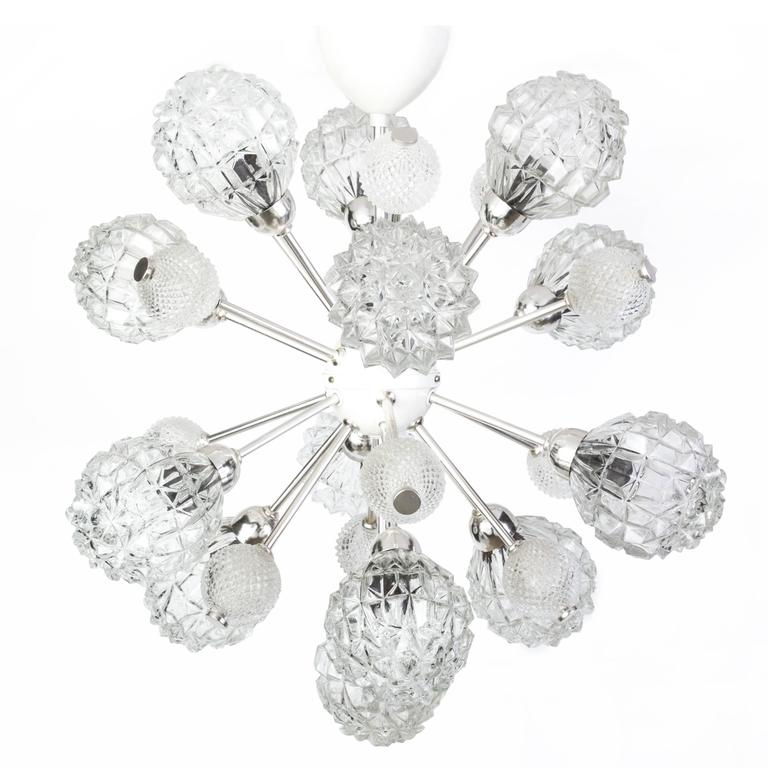 Exquisite German Floral Starburst Sputnik