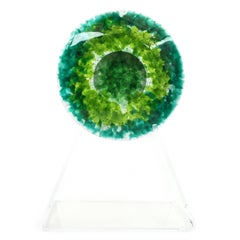 RETNA SMALL Eye Multicolor Decorative Cast Glass Piece