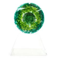 RETNA SMALL  Colorful Decorative Cast Glass Piece