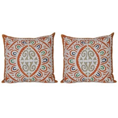 Vintage Indian Blue and Green Patchwork with Irish Linen Cushion Pillow