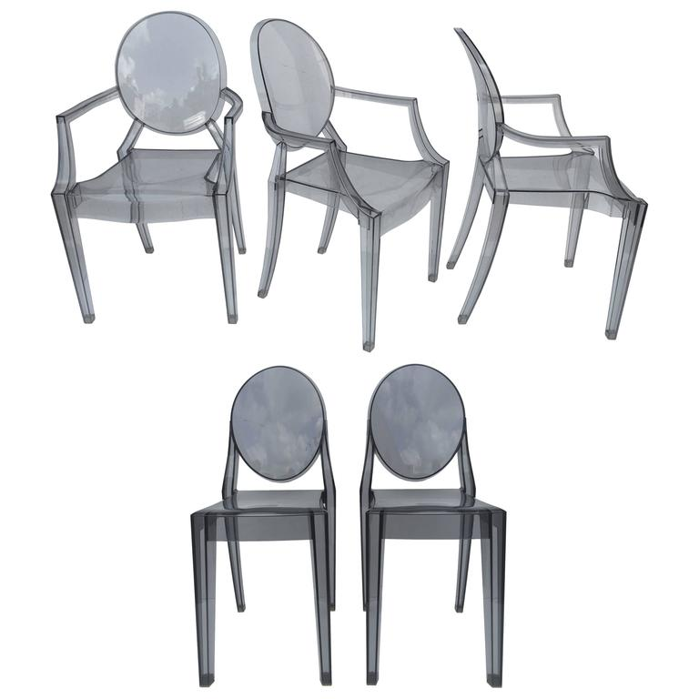 Five Signed Lucite Ghost Chairs 1