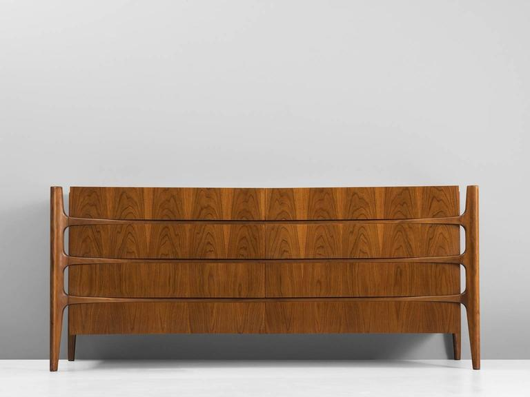 William Hinn For Urban Furniture Company Curved Sideboard In Walnut For Sale At 1stdibs