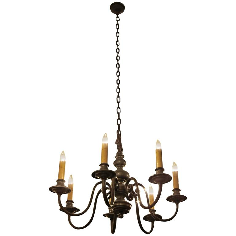 1930s colonial williamsburg bronze seven light chandelier for sale 1930s colonial williamsburg bronze seven light chandelier for sale aloadofball Image collections