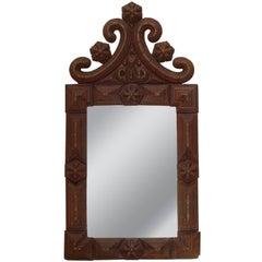 French Tramp Art Mirror, Late 19th Century