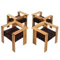 Afra & Tobia Scarpa Set of Four Artona Armchairs