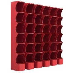Set of Six Red Totem Shelves of Rodier