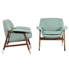 Pair of Gianfranco Frattini Armchairs by Cassina Model 849