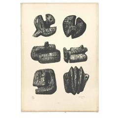Henry Moore Lithograph 57/200