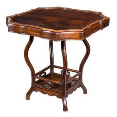 Serpentine Rosewood Gaming Table
