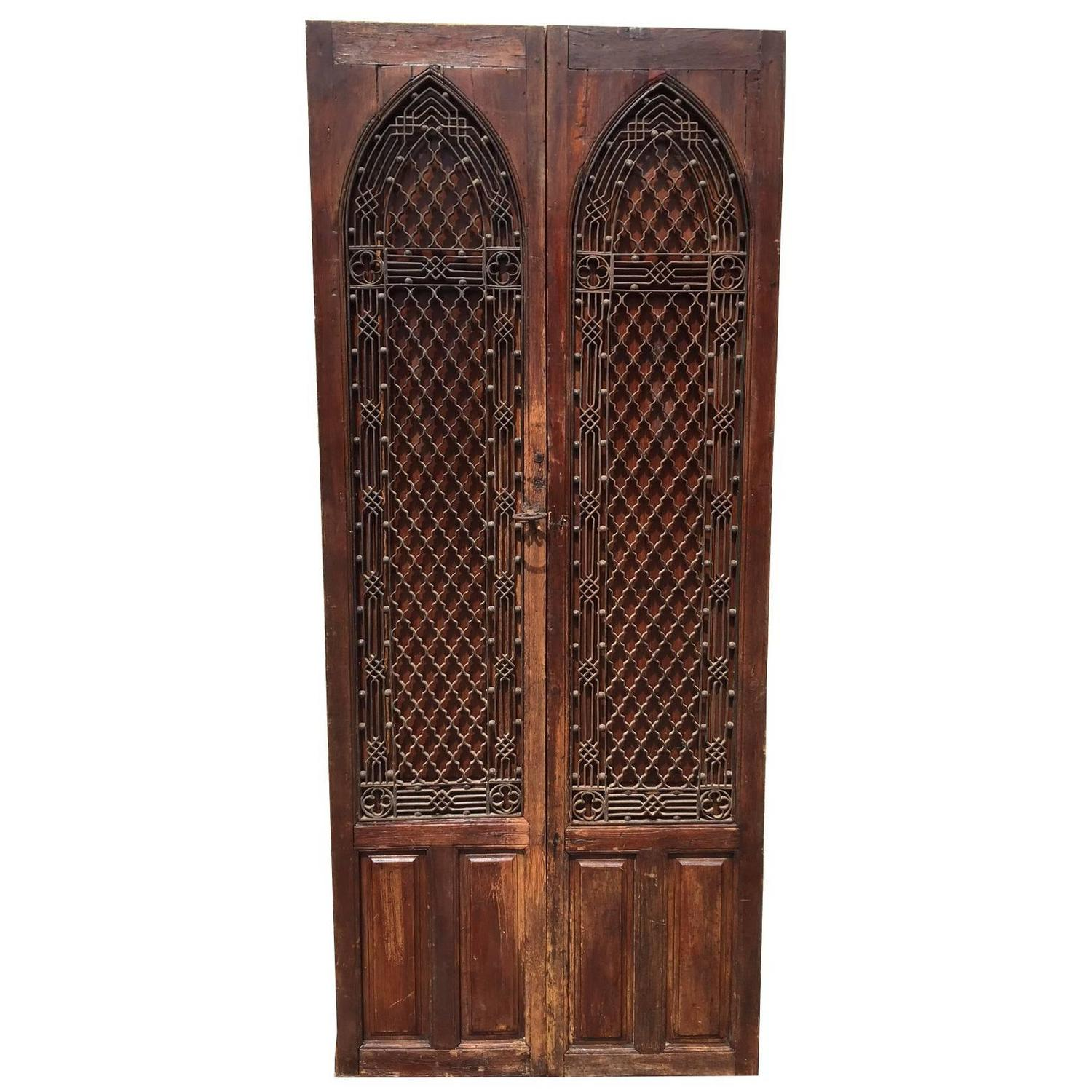 Beautiful Examples Of Rare Gothic Revival Doors For Sale At 1stdibs