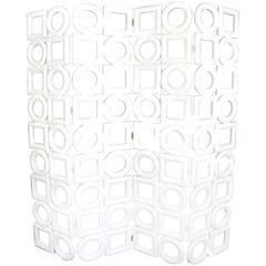 Rounds and Squares Raumteiler von Wooden Structure von Pierre Cardin, 1970