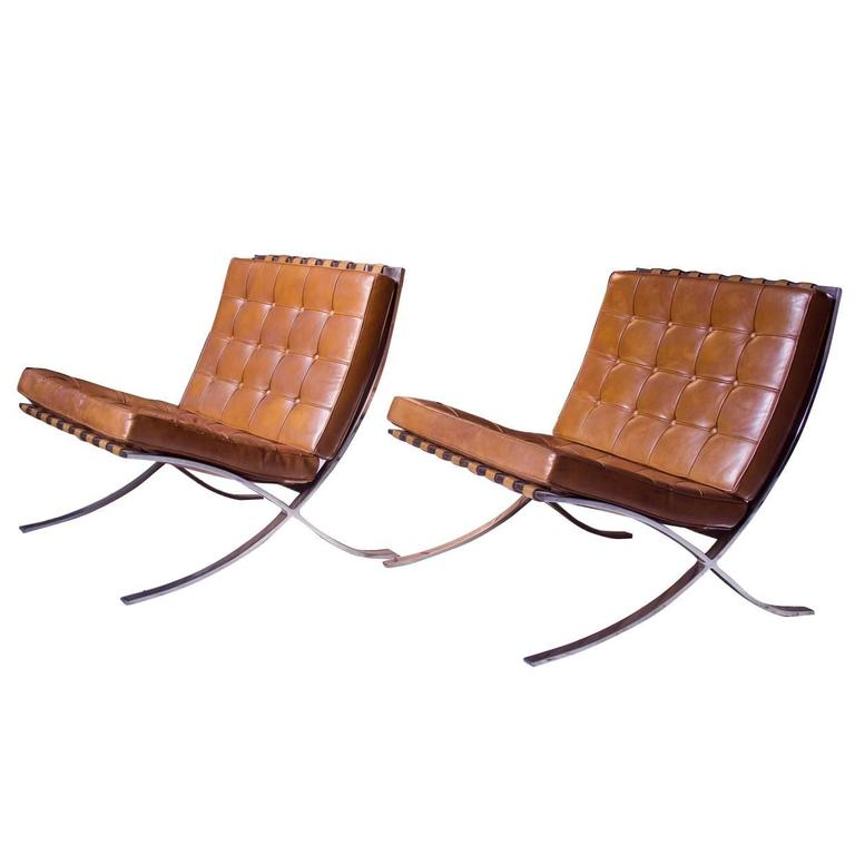barcelona chairs by ludwig mies van der rohe for knoll at 1st