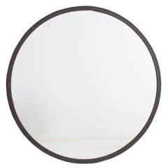 20th Century Round Metal Frame Mirror