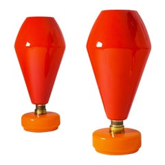 Pair of Large Vistosi Table Lamps, 1960s