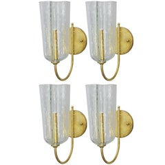 Italian Murano Pulegoso Glass Sconces