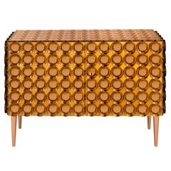 Roberto Rida, Limited Edition Glass and Palmwood Adone Cabinet