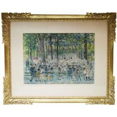 """""""Concert in Central Park"""" a Watercolor by Carle Michel Boog"""