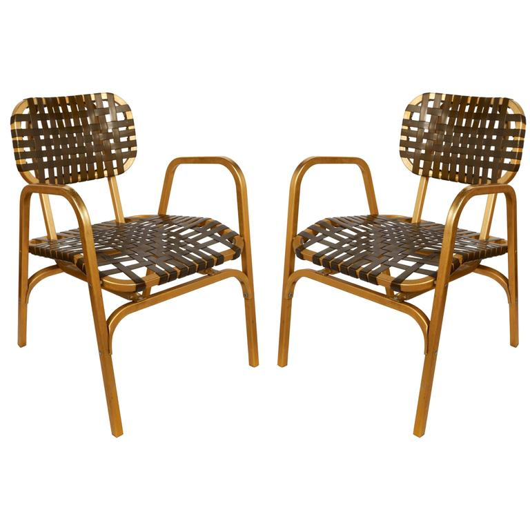 Pair of 1950's Mid-Century Modern Leisure Garden or Patio Chairs 1