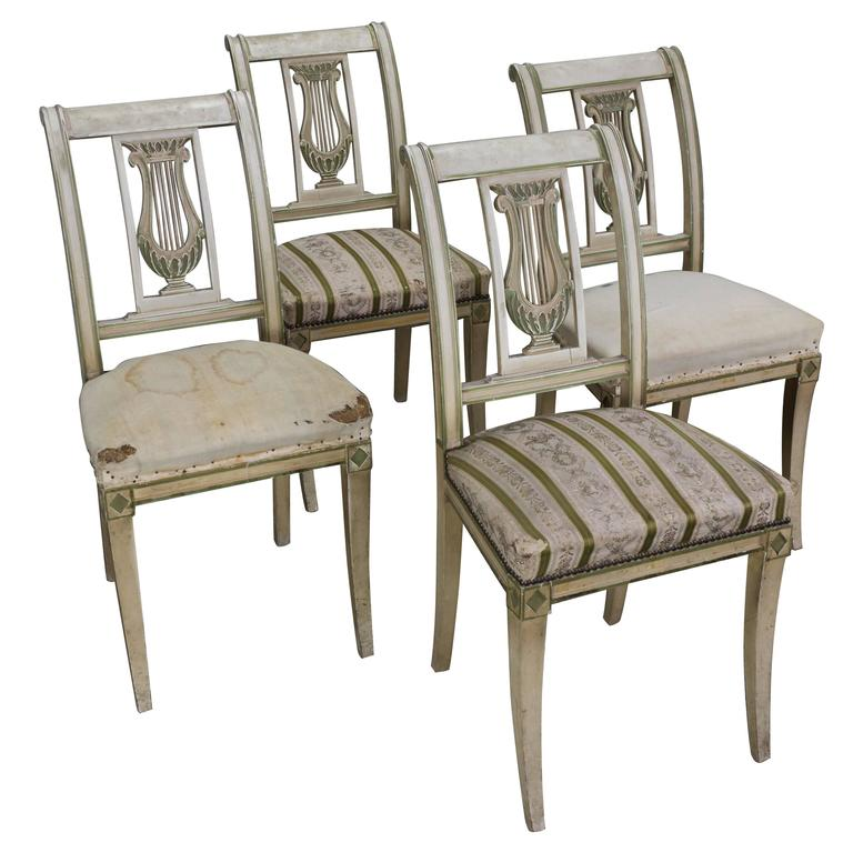 Set of Four French Dining Room Chairs 1