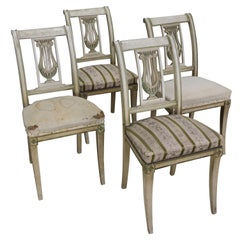 Set of Four French Dining Room Chairs