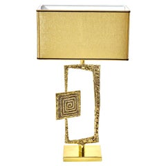 "Sculptural Cast Brass ""Tea"" Table Lamp by Esperia  for Gaspare Asaro"