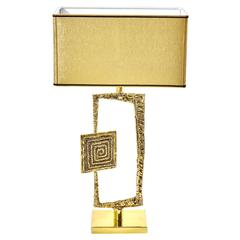 "Sculptural Cast Bronze ""Tea"" Table Lamp by Esperia  for Gaspare Asaro"