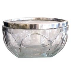 Kirby Beard and Co. Crystal Salad Bowl