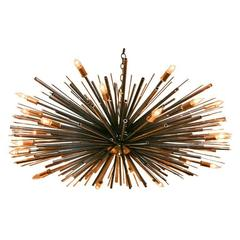 One-of-kind Supernova Light Sculpture by Lou Blass in Steel, with 24 Lights