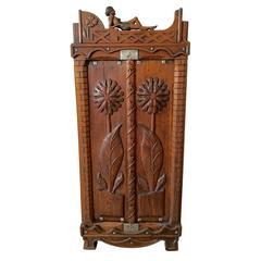 Brazilian Hand-Carved Two-Door Cabinet