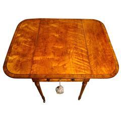 Sheraton Period Satinwood Pembroke Table, English, circa 1785
