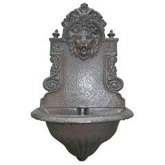 English Cast Iron, Lion Head Fountain/Planter