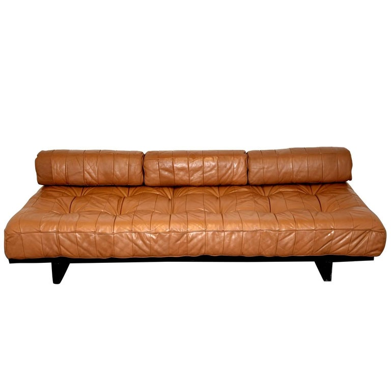 Vintage Swiss de Sede DS 80 Leather Daybed, 1960s