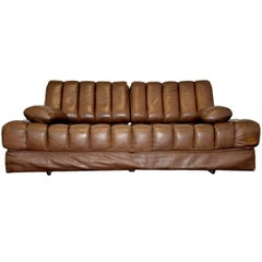 Vintage de Sede DS 85 Leather Sofa, Daybed and Loveseat, Switzerland 1960s