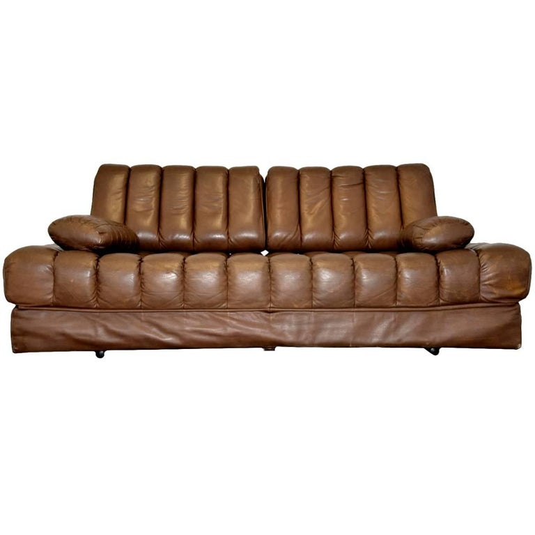 Vintage Swiss de Sede DS 85 Sofa, Daybed and Loveseat, 1960s For Sale