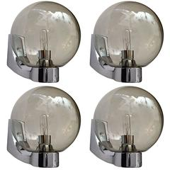 Set of Four Space Age German 1960s Wall Lights