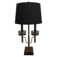Brass Two-Light Table Desk Lamp after Tommi Parzinger