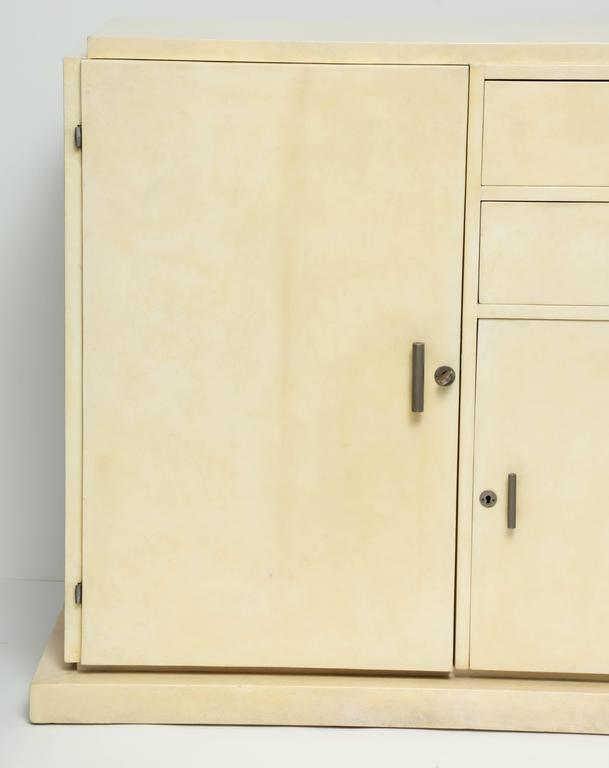 French Jacques Adnet Parchment Sideboard, circa 1930s For Sale