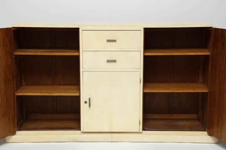 Jacques Adnet Parchment Sideboard, circa 1930s For Sale 1