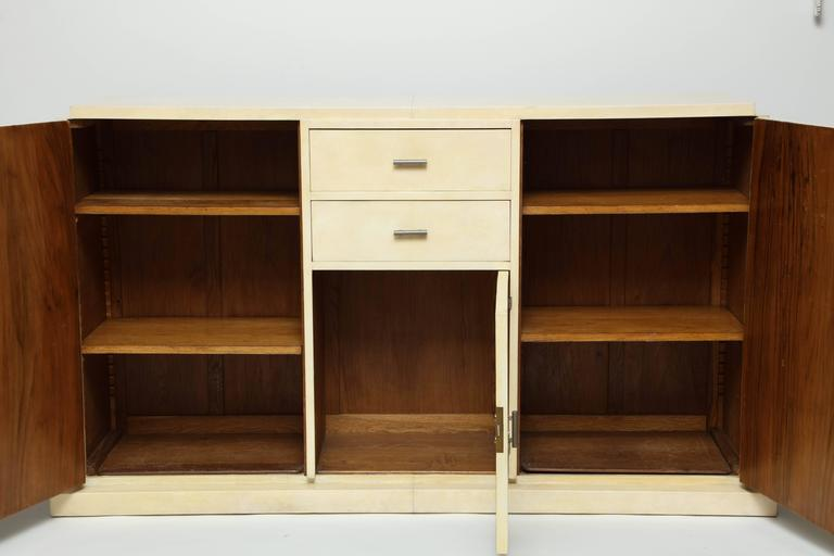 Jacques Adnet Parchment Sideboard, circa 1930s 9