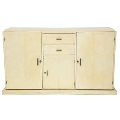 Jacques Adnet Parchment Sideboard, circa 1930s