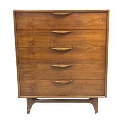 Lane Walnut Highboy Dresser, circa 1960