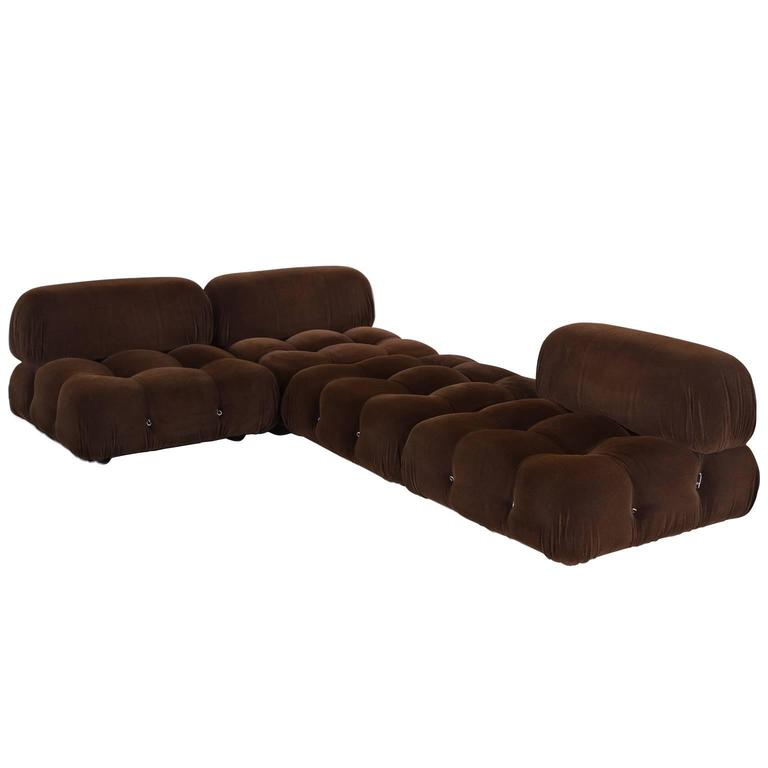 mario bellini 39 camaleonda 39 modular sofa in original brown. Black Bedroom Furniture Sets. Home Design Ideas