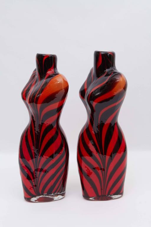 Pair Of Murano Glass Torso Vases At 1stdibs