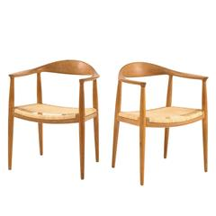 Set of Four 'The Chair' by Hans J. Wegner