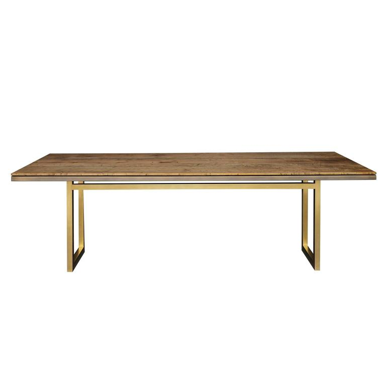 Gotham Dining Table - Customizable Wood and Metal