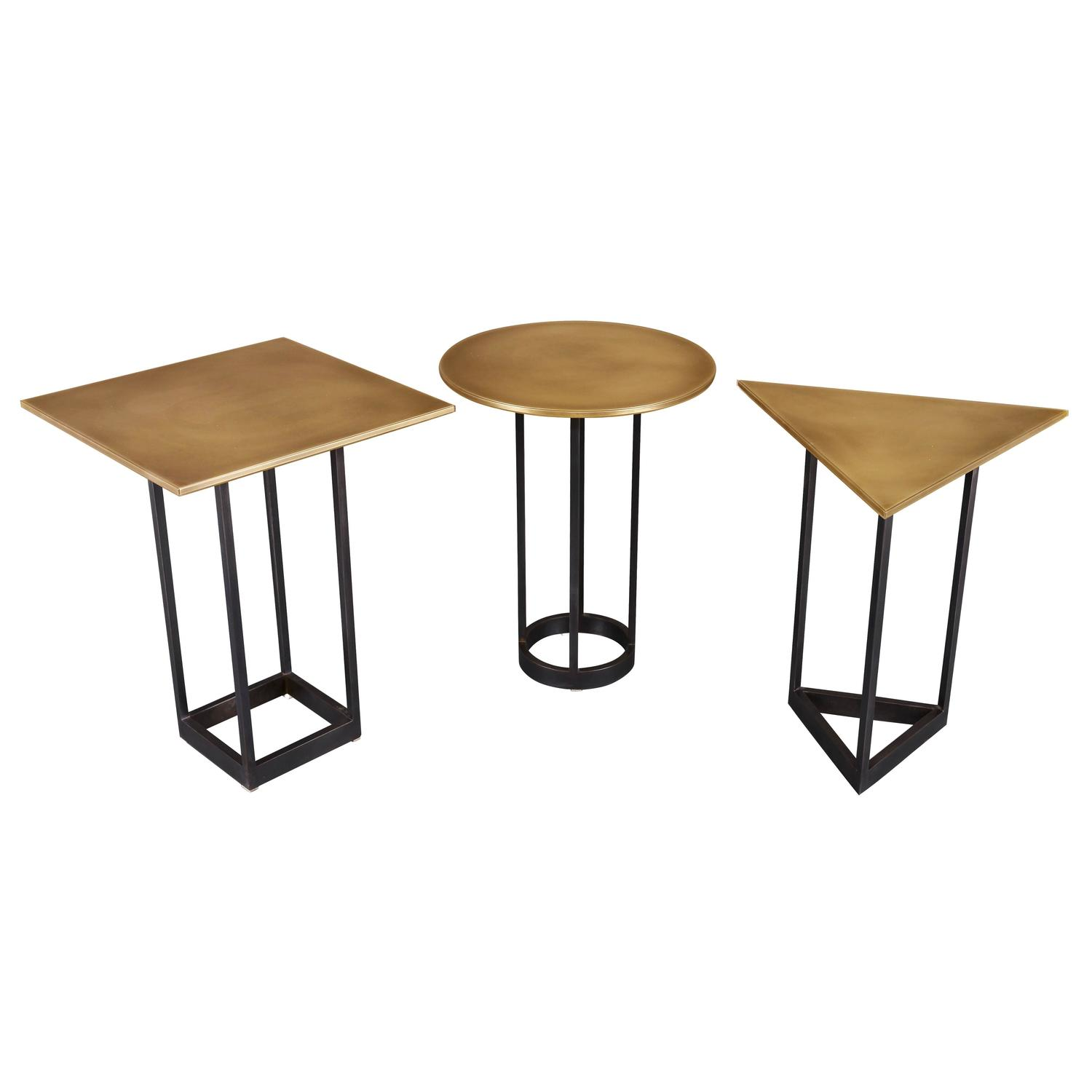 Gotham End Tables Customizable Metal and Resin For Sale