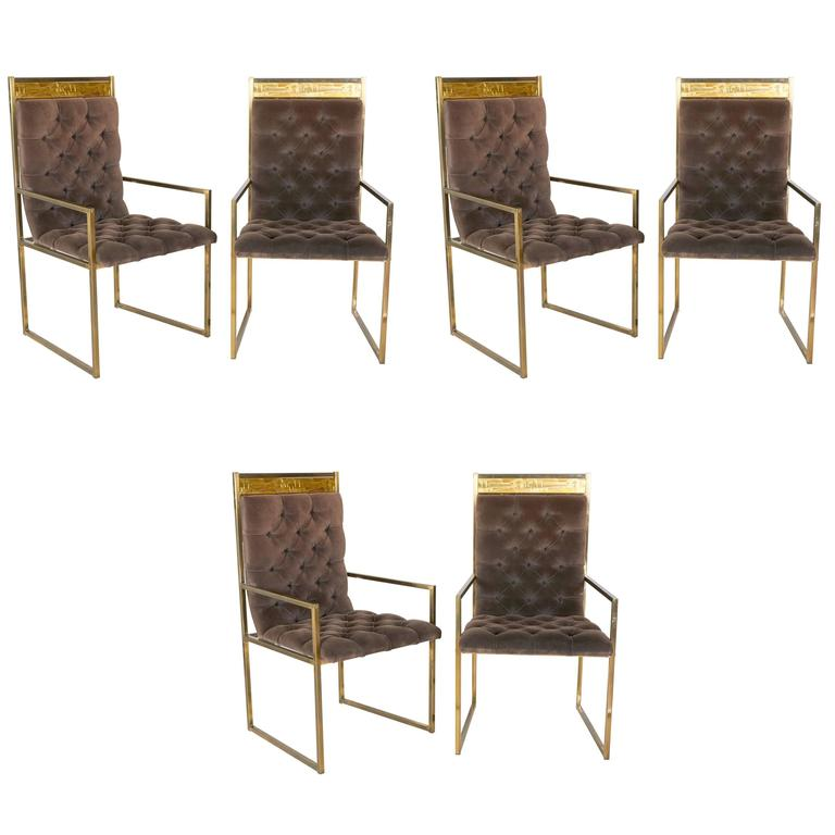 Set of Six Dining Chairs by Bernhard Rohne for Mastercraft