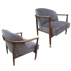 Pair Finn Anderson Sculptural Lounge Chairs