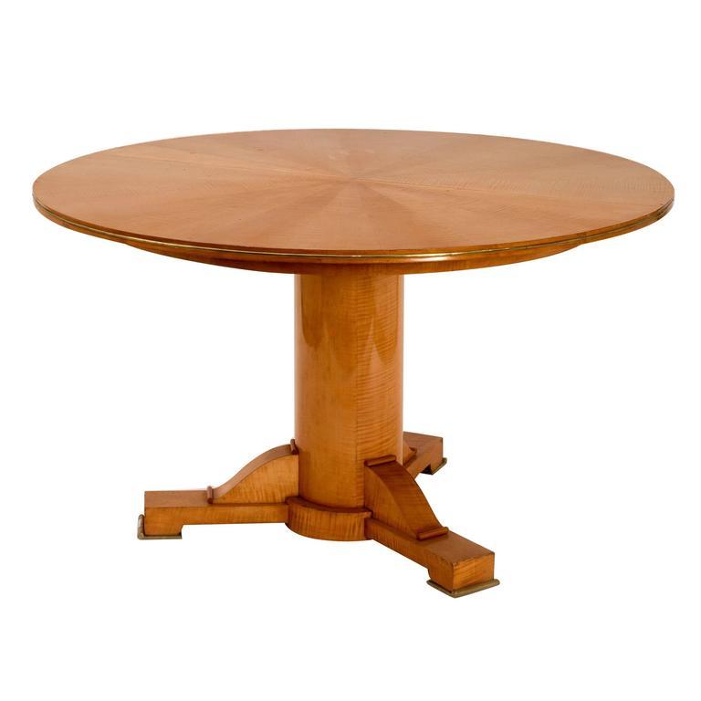 Jules Leleu, Sycamore center table, France, c. 1948